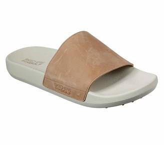 Skechers Men's 19th Hole Leather Strap Golf Slide Sandal
