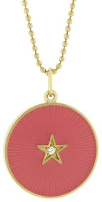 Andrea Fohrman Pink Enamel Star Necklace