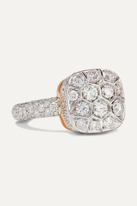 Pomellato Nudo 18-karat Rose And White Gold Diamond Ring - Rose gold