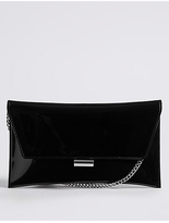 M&S Collection Faux Leather Fold Over Clutch Bag
