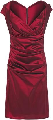Talbot Runhof Wrap-effect Ruched Ottoman Dress