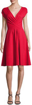Armani Collezioni Milano Jersey V-Neck Dress, Red
