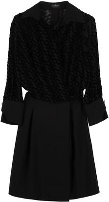 Elisabetta Franchi Celyn B. Devore Logo Dress