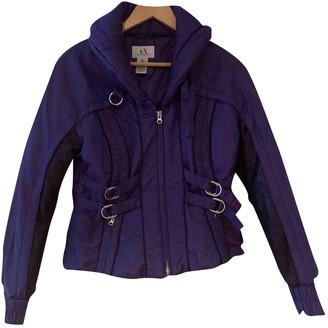Armani Exchange Purple Polyester Jackets
