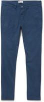 Nn07 - Marco Slim-fit Garment-dyed Stretch-cotton Twill Chinos