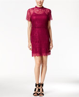 Kensie Short-Sleeve Lace Dress
