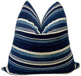 One Kings Lane Vintage Mali Indigo Striped Pillow