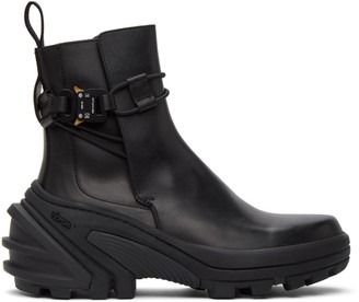 Alyx Black Buckle Fixed SKX Sole Chelsea Boots