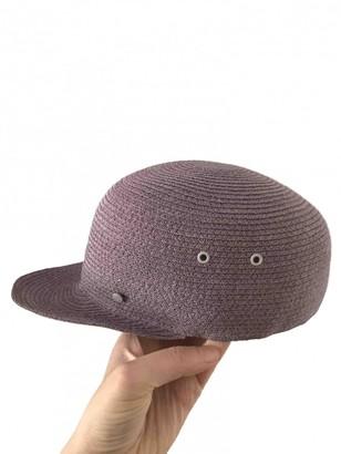 Maison Michel Purple Cotton Hats