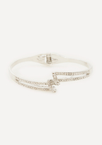 Bebe Crystal Twist Bracelet