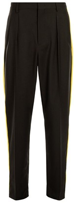 Valentino Side Tape Wool-Blend Pants