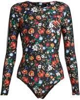 The Upside Wildflowers-print performance paddle suit