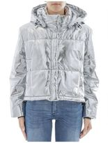 MSGM Silver Polyester Down Jacket