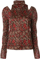 Chloé Roll Neck Cut Out Sweater