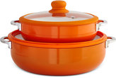Imusa 2-Pc. Orange Ceramic Caldero Set