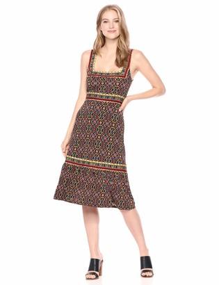 BCBGMAXAZRIA Azria Women's Printed Square Neck Dress
