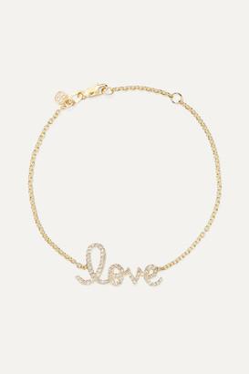 Sydney Evan Love Medium 14-karat Gold Diamond Bracelet