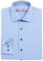 Robert Graham Boys' Tonal Geo Print Dress Shirt
