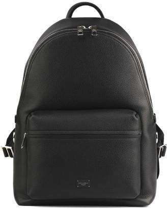 Dolce & Gabbana Black Vulcano Leather Backpack