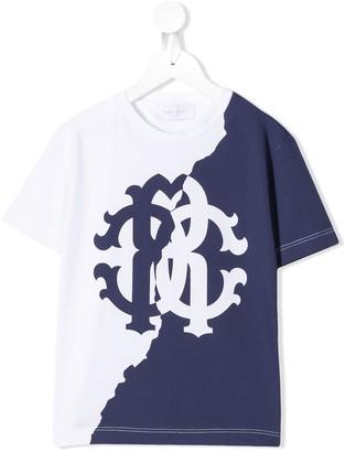 Roberto Cavalli Junior two tone logo T-shirt