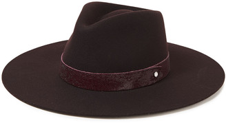 Rag & Bone Kacy Leather-trimmed Wool-felt Fedora