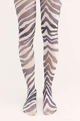 Free People Show Your Stripes Print Tights