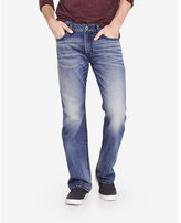 Express boot leg slim fit thick stitch jean