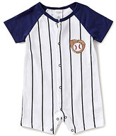 Starting Out Baby Boys Newborn-9 Months Baseball-Embroidered Shortall