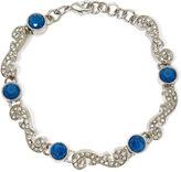 Liz Claiborne Blue Stone and Crystal Silver-Tone Flex Bracelet