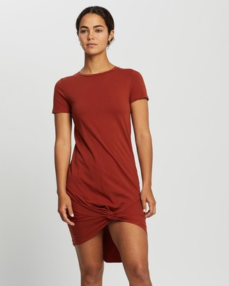 Silent Theory Women's Orange T-Shirt Dresses - Twisted Tee Dress - Size One Size, 8 at The Iconic