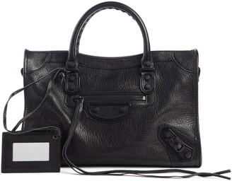 Balenciaga Mini Classic City Calfskin Leather Satchel