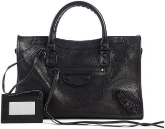 Balenciaga Mini Classic City Calfskin Leather Satchel