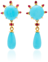 Paul Morelli Turquoise Round Drop Earrings