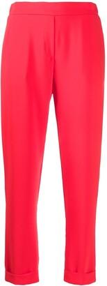 P.A.R.O.S.H. Plain Slim-Fit Trousers