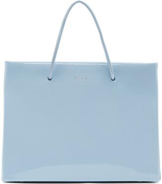 Medea Blue Patent Hanna Bag