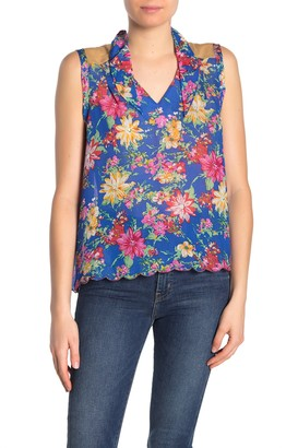 GUESS I Floral Sleeveless Blouse