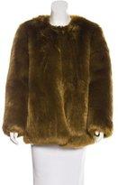 THP Long Sleeve Faux Fur Coat