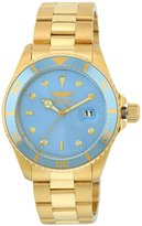 Invicta 22066 Men's Pro Diver Metallic Dial Yellow Gold Plated Steel Bracelet Dive Watch