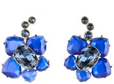 Oscar de la Renta Faceted Resin Flower Earrings