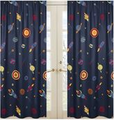 Sweet Jojo Designs Space Galaxy Window Curtain Panel (Set of 2)