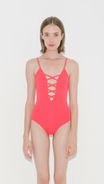 Mara Hoffman Lattice Front One Piece