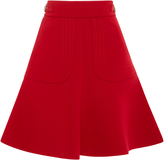 RED Valentino High Waist A-Line Mini Skirt