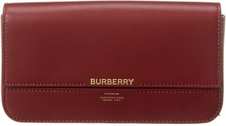 Burberry Logo Leather Wallet On Chain