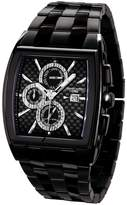 Jorg Gray Men's Black Carbon Fiber Dial Black Ion Plated Stainless Steel