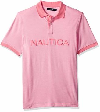 Nautica Men's Short Sleeve Cotton Pique Oxford Polo Shirt