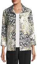 Caroline Rose Double Take Jacquard A-line Jacket, Plus Size