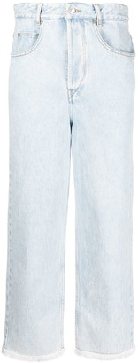 Etoile Isabel Marant High-Rise Cropped Jeans