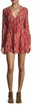 Free People Stealing Fire Printed Mini Dress