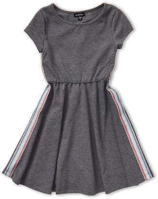 Zunie Girls 7-16) Stripe Side Short Sleeve Dress