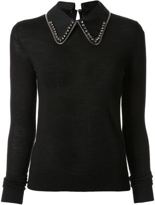 No.21 Embellished Collar Jumper
